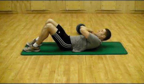 exercises for back pain Partial crunches